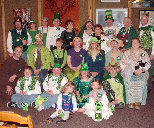 Irish party photo