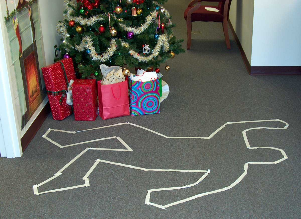 Murder victims body outline