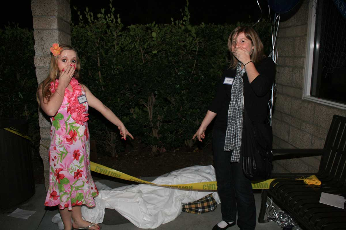 Girls with the murder victim